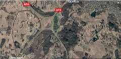 Plot of land in a strategic profitable place at the roundabout of highways А13 and А15 is for sale -