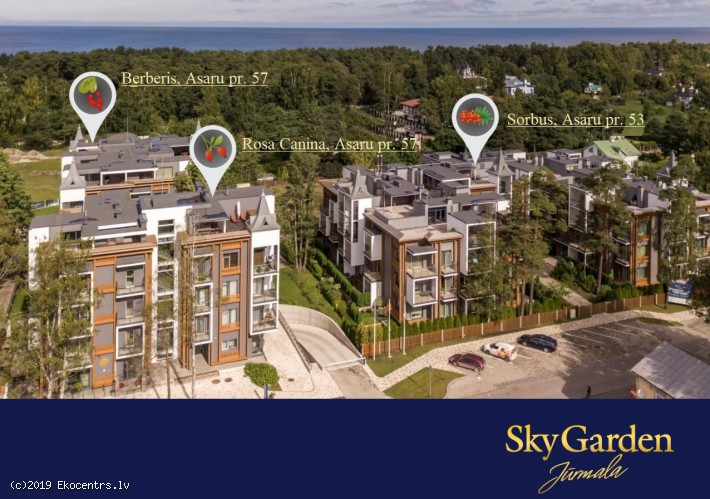 For sale is 3room apartment in the new residential complex SKY GARDEN in Jurmala - Asaru prospekts 57, 42